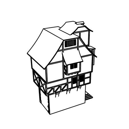 Line Art design of home space Archivio Fotografico - 112417881