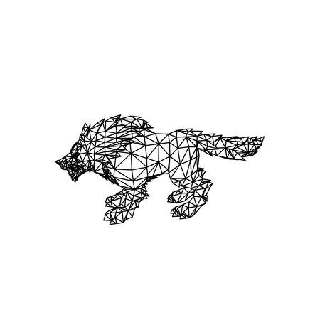 Line Art design of Wolf