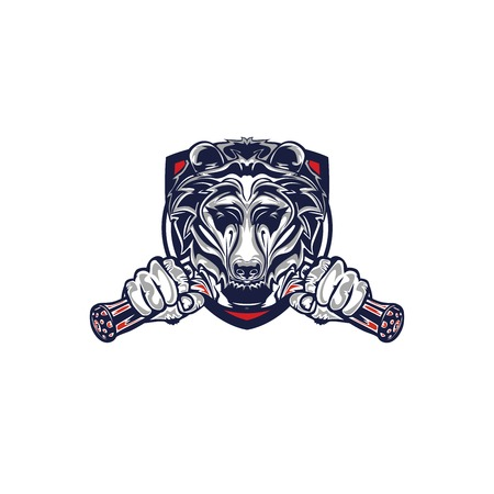 Illustration design of Grizzly