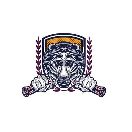Illustration design of Grizzly Illustration