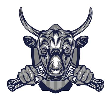 Illustration of Buffalo Badge 矢量图像