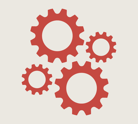 Cogs And Gears Icon Vector Illustration Isolated  Illustration