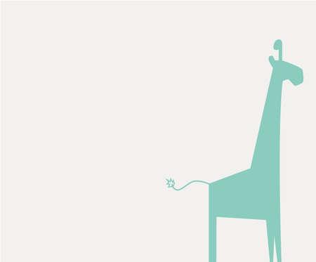 giraffe op witte achtergrond Stock Illustratie