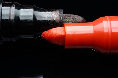 pen marker isolated on black Stock Photo