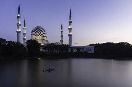Beautiful dome and towers of Shah Alam Mosque