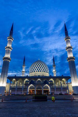 beautiful view of Sultan Salahuddin Abdul Aziz Shah mosque during sunrise