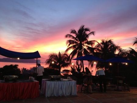 Dinner at a beautiful beach resort