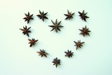 badian: The stars of anise in the heart for Valentines Day.