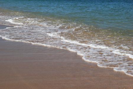 beachcombing: Travel to island Koh Lanta, Thailand. The view on the sea waves near to beach. Stock Photo