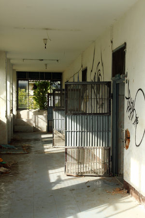 Chiang Mai, Thailand - December 25, 2017: View on the prison blocks in abandoned women prison. Editorial