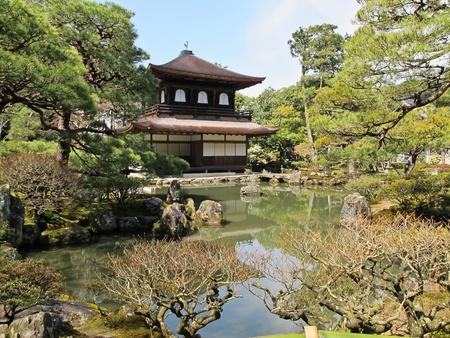 Kinkakuji in autumn season - the famous Golden Pavilion at Kyoto, Japan.  Stock Photo - 9397259
