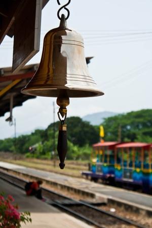 Bell in Kanchanaburi train station Stock Photo - 9410450