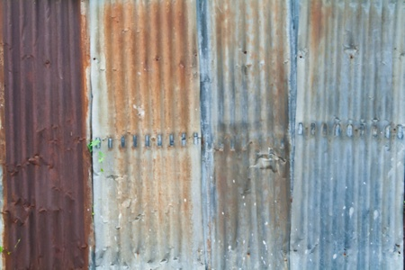 hangar: Corrosion metal sheet Stock Photo