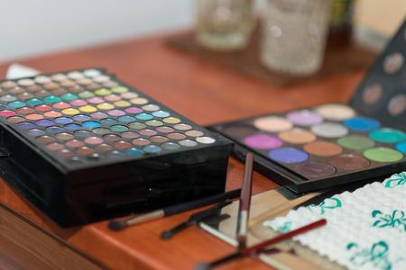 visage: Makeup. Professional multicolor eyeshadow palette.