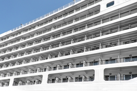 stateroom: big cruise liner in Istanbul port Stock Photo
