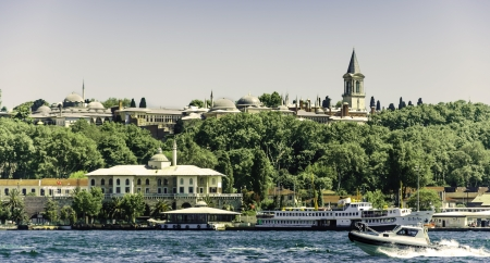 Topkapı Palace from the sea  photo