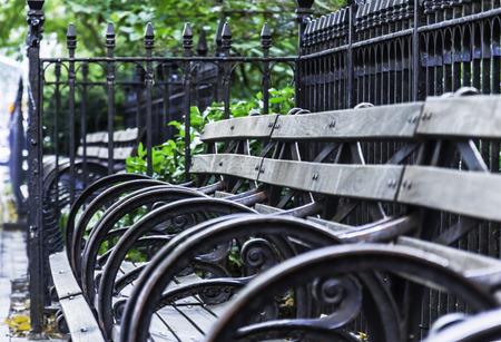 banc parc: Park Bench Banque d'images