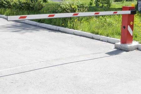 no entrance: Red barrera cerrada