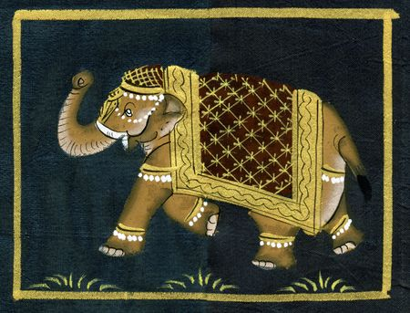 Art piece with the indian walking elephant