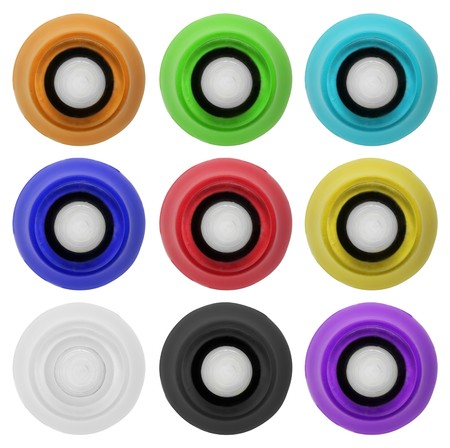 Real and colorful rubber button collection. Isolated on white background Stock Photo - 7331642
