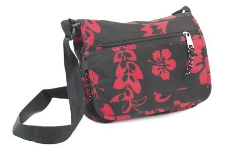 reg: Reg polyester handbag. Isolated on white background