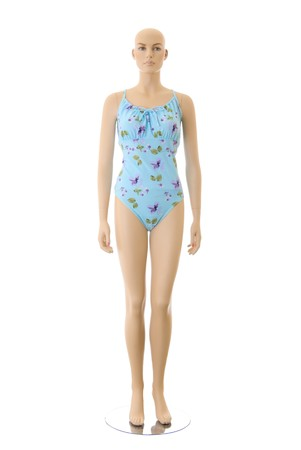 Female mannequin in blue swimsuit. Isolated on white background Stock Photo - 7760176