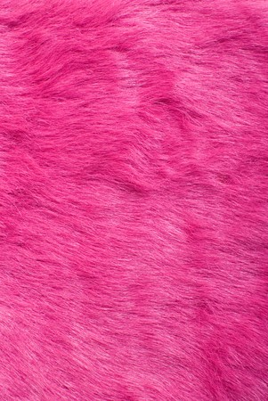 Artificial purple fur texture. Part of the teenager bag Stock Photo