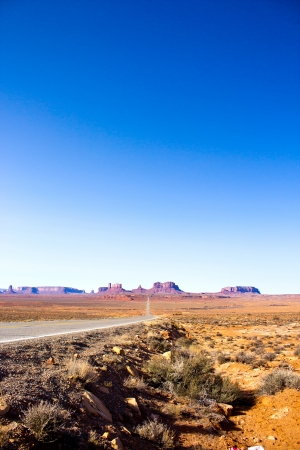 monument valley view: a view of the Monument Valley, coming from Mexican Hat, Utah