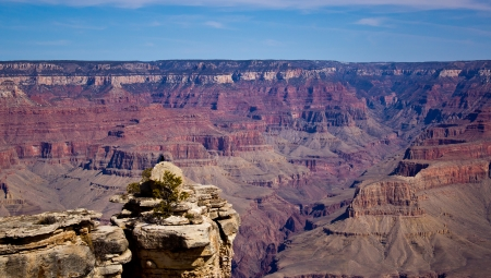 A view of the Grand Canyon from the South Rim photo