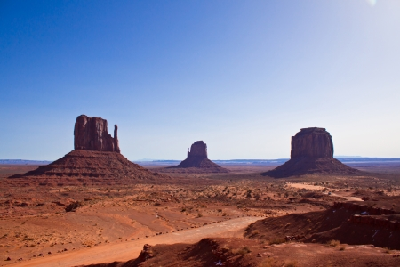 the center of the Monument Valley National Park, Arizona, USA photo