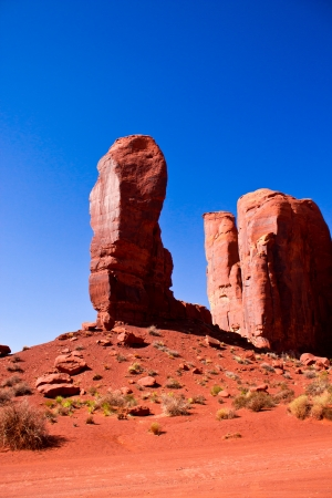 The Thumb, a peculiar rock formation in Monument Valley National Park photo
