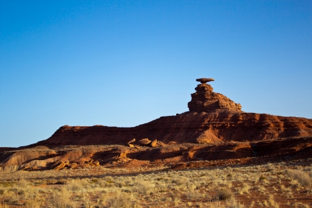 a view of Mexican Hat; Utah; USA Stock Photo - 24171096