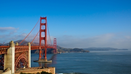 a view of the Golden Gate Bridge of San Francisco, California photo