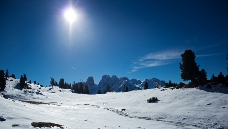 a view of Monte Cristallo; Dolomiti; Italy photo