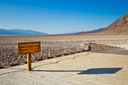 The Badwater Basin Sign, Death Valley National Park photo