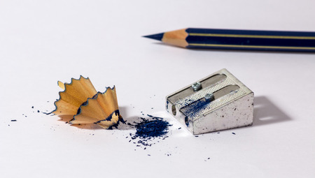 sharpened: a pencil with an iron sharpener