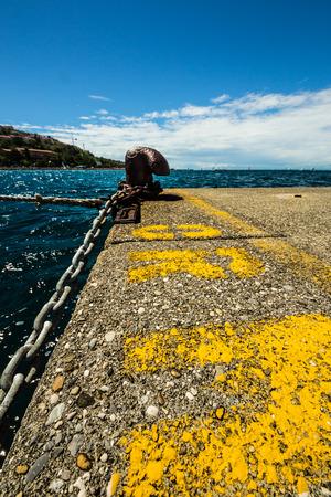 bronze berth on the pier of Muggia, Trieste photo