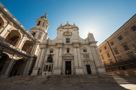 the Sanctuary of Santa Maria di Loreto, Italy, in a sunny summer morning photo