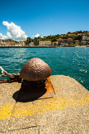 bronze berth on the pier of Muggia, Trieste photo