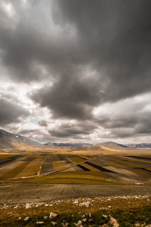 storm is coming on the fields of italy photo