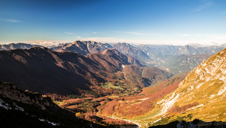 Fall is coming in the italian alps photo