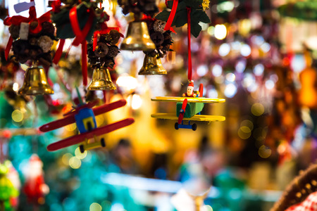 gift and decoration for christmas in a market of Austria photo