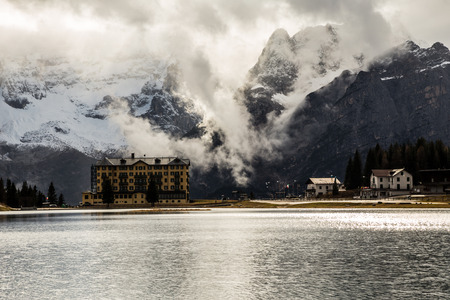 lake misurina: Misurina lake of \Tre cime di Lavaredo\, Italy