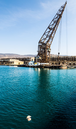 ursus: An ancient crane named \Ursus\ in the port of trieste Stock Photo
