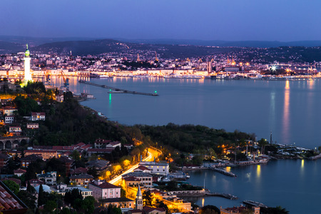 evening in the bay of Trieste photo