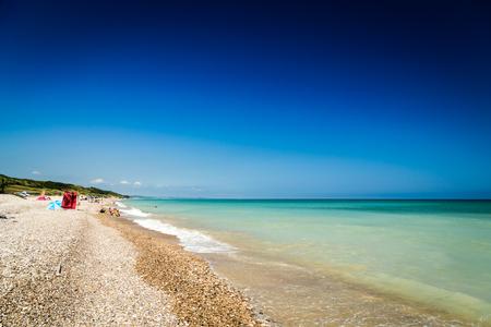 summer day at the seashore, Abruzzo, Italy 版權商用圖片