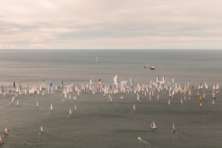 spinnaker: one of the biggest regatta in the world: the Barcolana
