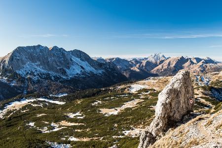 dry winter in the italian alps