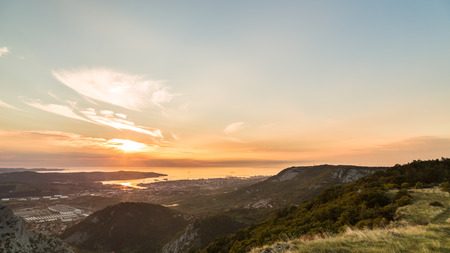 Sunset in the bay of Trieste from Val Rosandra