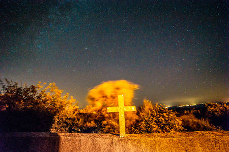 Milky way in the sky of croatia Stock Photo